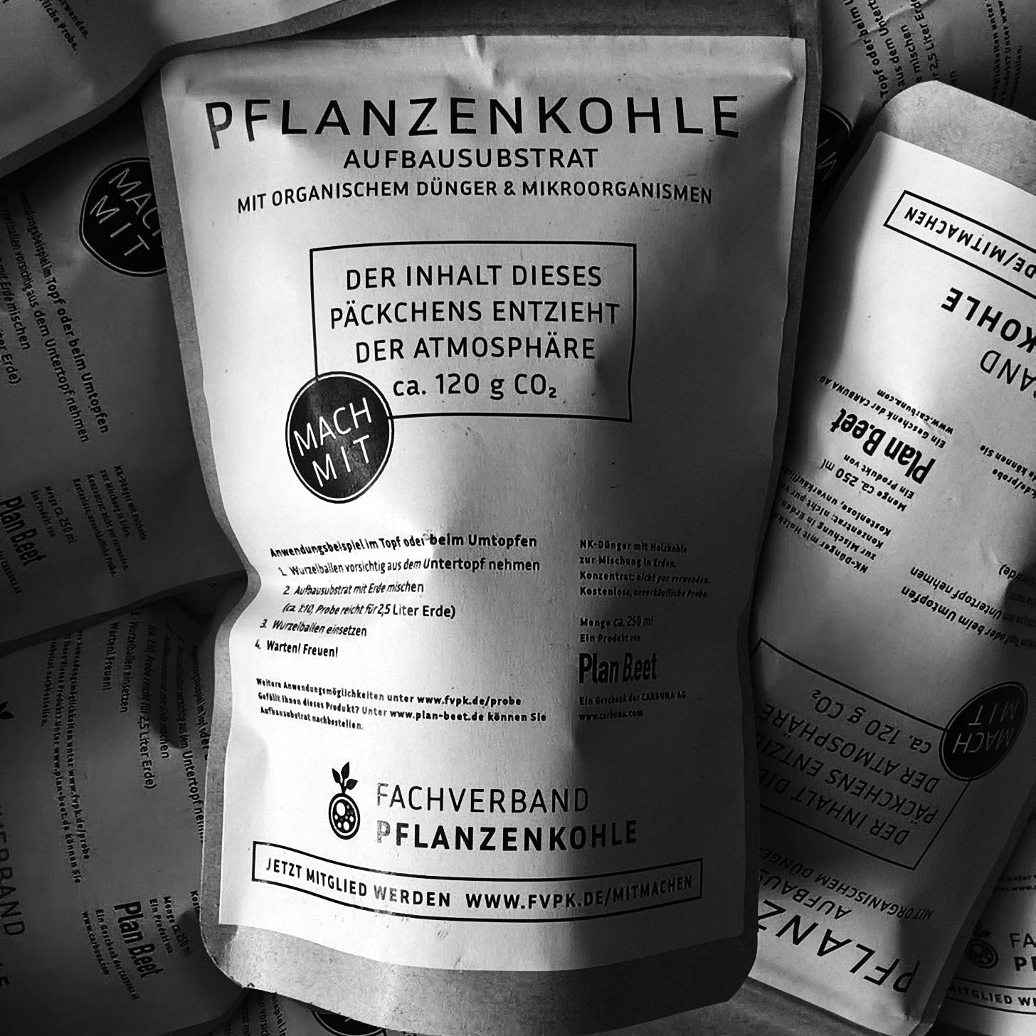 biochar trial package label