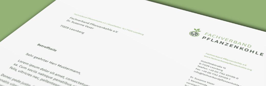 detail of letterhead from german biochar association