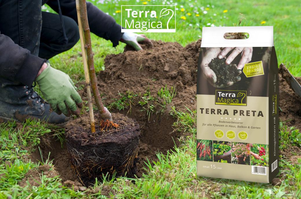 Terra Magica Sack Verpackungsdesign