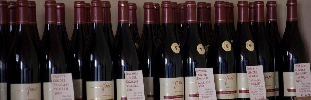 Weingut Zorn Spätburgunder Weinsortiment