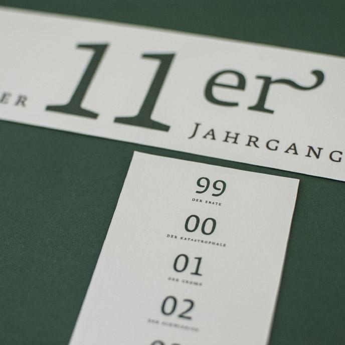 Weingut Zorn Jahrgänge Typografie